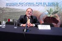 El doctor Pedro Sánchez, académico de Columbia University, durante la conferencia magistral que ofreció en el marco de la Alianza Nacional por el Suelo en beneficio de la sociedad y el ambiente, el pasado 17 de agosto