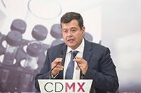 José Ramón Amieva, jefe de gobierno de la CDMX.
