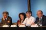 Jean Joinville, Julia Tagüeña, William Lee, Cristoph Sorger y José Seade, en la inauguración de la Unidad Mixta Internacional
