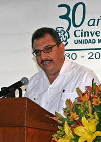 Doctor Romeo de Coss Gómez, investigador del Cinvestav-Mérida, presidente de la Sección Regional Sureste 1 de la Academia Mexicana de Ciencias para el trienio abril 2015 - abril 2018