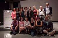 Parte de los miembros que integran la Red de Científicos Españoles en México. Julia Tagüeña Parga, directora adjunta de Desarrollo Científico de Conacyt, y Susana Martínez Conde, de la Red de Españoles Científicos en Estados Unidos (ambas en segunda fila al centro), quien ofreció una conferencia.