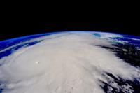 Patricia, el huracán más poderoso registrado en toda la historia en el hemisferio occidental, visto desde la Estación Espacial Internacional el 22 de octubre de 2015, frente a las costas de Nayarit y Colima, en México.