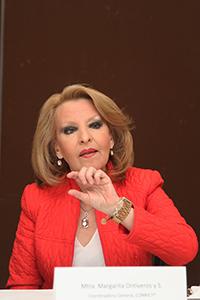 Margarita Ontiveros y Sánchez, coordinadora general del Conricyt.