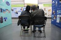 Visitantes en la XXIII Semana Nacional de Ciencia y Tecnología. Desde temprana hora los pasillos donde se muestran exhibiciones, se ofrecen talleres y conferencias y se disfruta de diversos museos reciben la visita del público.