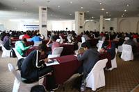 Los 189 estudiantes de nivel media superior que participan en la XXV Olimpiada Nacional de Química se presentaron dos exámenes teóricos en los salones del hotel sede del certamen.