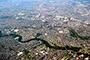 Vista aérea del área metropolitana de la ciudad de Monterrey, Nuevo León, donde la disponibilidad del agua seguirá siendo un factor fundamental para el desarrollo de la metrópoli en el futuro.