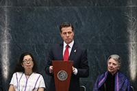 El presidente Enrique Peña Nieto destacó el grado de excelencia que han alcanzado en sus diferentes disciplinas los ganadores de los Premios Nacionales 2018, durante la entrega de los galardones.