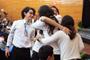 Los jóvenes integrantes del equipo de Nuevo León celebran su triunfo en el auditorio 'Gral. Emiliano Zapata Salazar' de la UAEM.