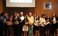Ganadores de los tres primeros lugares de la categoría Etimologías Latinas de la Primera Olimpiada Etimológica, celebrada del 28 al 30 de marzo en el Instituto de Investigaciones Filológicas de la UNAM.
