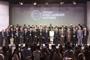 Aspecto de la inauguración de la 65ª Reunión Lindau de Premios Nobel con algunos de los laureados de la prestigiada distinción. Al centro, Bettina Bernadotte, presidenta del Consejo para los Encuentros de Premios Nobel de Lindau; a su derecha Joachim Gauck, presidente de la República Federal de Alemania.
