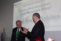 El rector de la UNAM, doctor José Narro Robles, fue reconocido con la Medalla al Mérito Administrativo