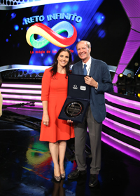 El doctor Carlos Bosch recibió un reconocimiento de Fundación Televisa por su incansable labor en la promoción de las matemáticas en el país.