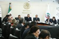 Encabezaron el acto el diputado Jesús Zambrano Grijalva y el senador Roberto Gil Zuarth.
