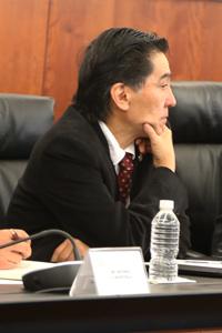 El doctor Jaime Urrutia Fucugauchi, presidente de la Academia Medicana de Ciencias durante la Instalación del