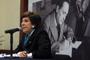 La doctora Mari Carmen Serra Puche, coordinadora de la Cátedra del Exilio Español de la UNAM e intregrante de la Academia Mexicana de Ciencias, durante su participación en el homenaje a Gilberto Bosques Saldívar.