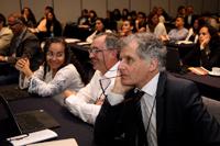 Asistentes al Taller de variabilidad, cambio climático-océanos, actividad que programó para el primer día 15 presentaciones, a cargo de especialistas, distribuidas en tres sesiones.