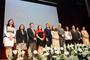 Ceremonia de entrega de Becas para las Mujeres en la Ciencia L´Oréal-Unesco-Conacyt-AMC 2015. En la imagen Enrique Cabrero (Conacyt), Jaime Urrutia (AMC), Socorro Rovirosa (Conalmex), Nuria Sanz (Unesco-México); y Karin Oechler y Javier San Juan (L´Oréal México y Zona Hispanoamericana).
