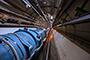 Imagen del Gran Colisionador de Hadrones (LHC, sus siglas en inglés), de la Organización Europea para la Investigación Nuclear, tomada el 25 de julio de 2018, día en que le inyectaron átomos de plomo que contenían solo un electrón, un nuevo experimento realizado en el LHC.