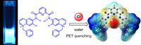 Ejemplo de un quimiosensor fluorescente selectivo para cloruro en agua, basado en grupos quinolinio como unidades luminiscentes y el fragmento piridin-2,6-bisamida como sitio de asociación desarrollado en el laboratorio.