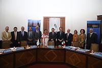 Académicos, funcionarios e investigadores participaron en la presentación del libro Rednacecyt, 20 aniversario, en el Palacio de Minería, sede de la Academia de Ingeniería de México.