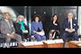 En la inauguración de los Diálogos sobre Humanidades, Ciencias, Tecnologías e Innovación. Construyendo consensos por México, participaron (de izq a der): Otilio Acevedo, Carmen de la Peza, Julia Tagüeña, Ofelia Ángulo e Ignacio Cabrera.