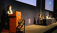 """Angélica Franco, responsable de la biblioteca """"Las Batallas en el Desierto"""" y profesora del taller de fomento a la lectura de la Comunidad de Internamiento Preventivo, da su testimonio tras cursar y aprobar el diplomado La Ciencia en tu Escuela 2018."""