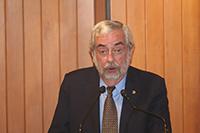 Enrique Graue Wiechers, rector de la UNAM, durante la ceremonia  del 70 aniversario del Instituto de Geofísica de la UNAM.