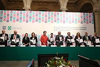Titulares de instituciones de educación superior del país firmaron un convenio con el gobierno de la capital y la Secretaria de Educación, Ciencia, Tecnología e Innovación de la Ciudad de México para la integración de la Red Ecos.