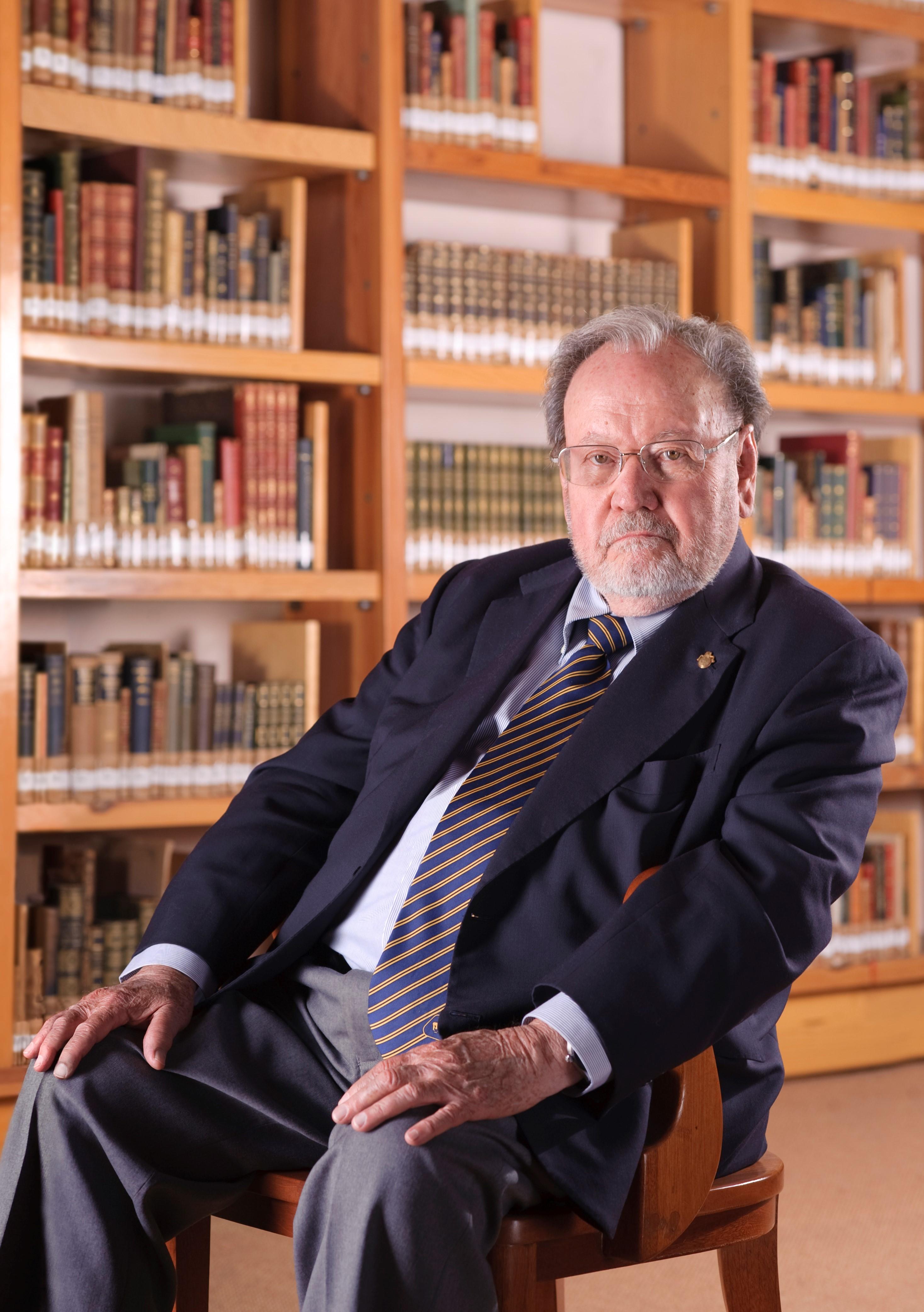 Guillermo Soberón Acevedo, decano de los expresidentes de la Academia Mexicana de Ciencias. Foto: El Colegio Nacional.