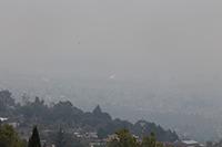 Contaminación de la Ciudad de México, vista desde las instalaciones de la Academia Mexicana de Ciencias.