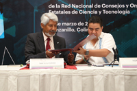La firma del acuerdo de colaboración entre la Academia Mexicana de Ciencias y la  Red Nacional de Consejos y Organismos Estatales de Ciencia y Tecnología, se llevó a acabo este jueves 15 de marzo en el marco de la Segunda Sesión Ordinaria 2018 de la Rednacecyt, en Manzanillo, Colima.