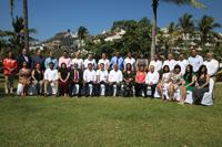 Titulares y representantes de los consejos estatales de ciencia  y tecnología de todo el país fueron testigos de la firma del convenio entre la AMC y la Rednacecyt, EN un evento realizado en Manzanillo, Colima.