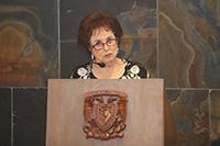 Doctora María Esther Ortiz y Salazar, investigadora emérita del IFUNAM.
