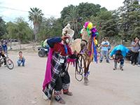 Fariseo mayo durante la celebración de la Semana Santa en Pueblo Viejo, Navojoa, Sonora.