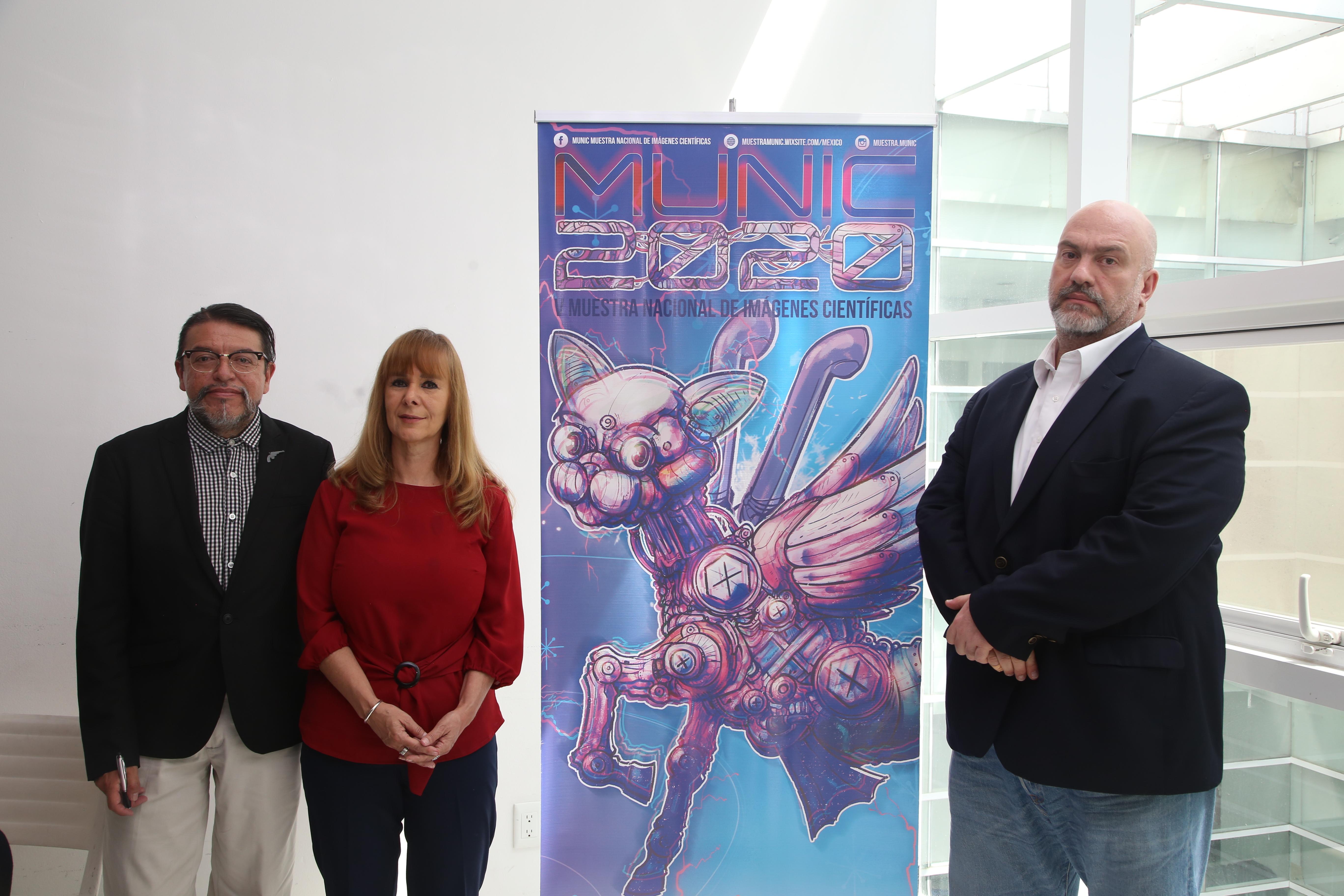 Alejandro Alonso, director asociado de la MUNIC, Roxana Eisenmann, directora general de la MUNIC y Hugo Villa Smythe, director general de actividades cinematográficas de la Filmoteca de la UNAM.