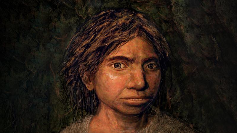 Reconstrucción artística de una niña denisovana de Siberia, se basa en una nueva forma de inferir características físicas a partir del ADN.