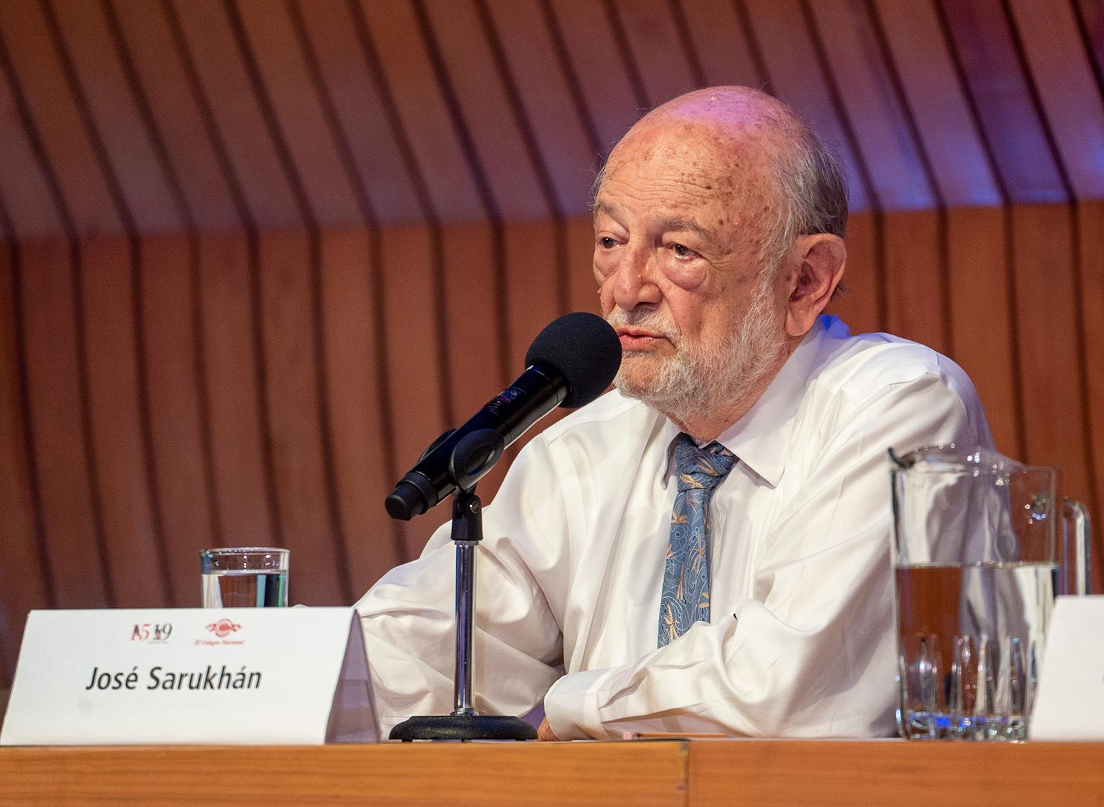 José Sarukhán Kermez, miembro de El Colegio Nacional y ex presidente de la Academia Mexicana de Ciencias.