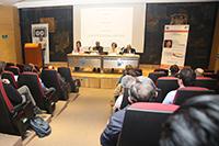 Investigadores, académicos, estudiantes y visitantes extranjeros  escucharon los avances que ha tenido en sus estudios la investigadora española Aurora Hernández Machado, miembro correspondiente de la AMC,  durante la conferencia