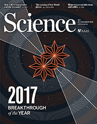 Los editores y escritores de la revista científica Science destacan este año como un logro de investigación superior la primera observación completa de una fusión de estrellas de neutrones. Sin embargo, este año hubo muchos otros avances científicos, que van desde el hallazgo del hielo más antiguo hasta el mono más nuevo.