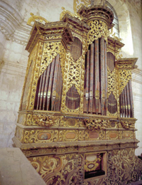 Órgano histórico de Santo Domingo Yanhuitlán, Oaxaca (c.1690), restaurado bajo la coordinación del doctor Gustavo Delgado.