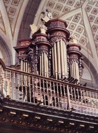 Órgano Cebados-Chacón (XVII-XIX) de la catedral de Puebla.
