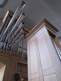 Detalle de la trompetería del Órgano Leeflang del Centro del Órgano AMMAO-San Agustín.