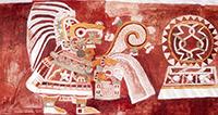 Mural de Teopancazco. Traje típico de Teopancazco, un antiguo centro de barrio teotihuacano.