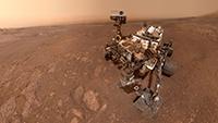 """Una selfie tomada por Curiosity Mars Rover de la NASA en el Sol 2291, el pasado 15 de enero, en el sitio de perforación """"Rocket Hall"""", ubicado en Vera Rubin Ridge."""