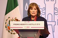 Alicia Ziccardi Contigiani, ganadora del Premio Heberto Castillo de la Ciudad de México, 2018. Por una Ciudad ConCiencia.