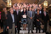 Investigadores, académicos, familiares y autoridades, fueron parte de la ceremonia de entrega del Premio Heberto Castillo de la Ciudad de México 2017. Por una Ciudad ConCiencia otorgado a la científica Alicia Ziccardi Contigiani.