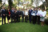 En la conferencia de prensa se premió a los tres primeros lugares del concurso nacional del cartel científico Inspiring Minds, convocado por el British Council México, una de las actividades culminantes del programa del Año-Dual México-Reino Unido, en el marco de la colaboración con el CONACyT.