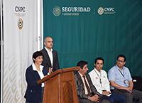 Doctora  Blanca Jiménez Cisneros, directora general de la Comisión Nacional del Agua,  en conferencia de prensa.