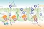El rotavirus afecta prácticamente a todos los niños alrededor de los cinco años de edad y es en todo el mundo la principal causa de diarreas deshidratantes en los niños, establece la UNICEF. En la imagen: modelo de entrada de rotavirus en la célula.