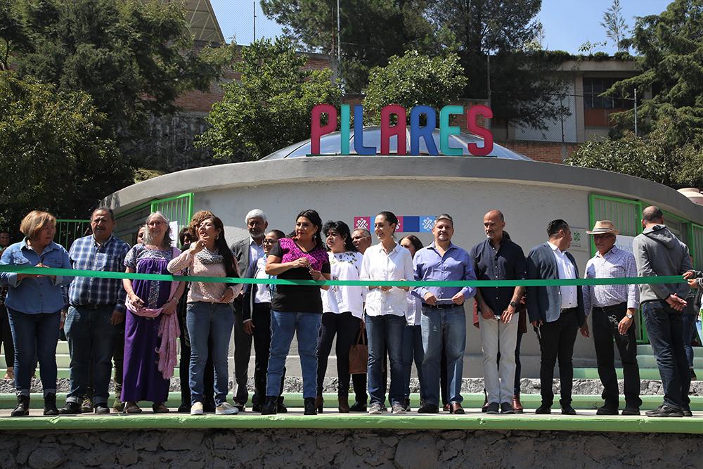 Inauguración del Punto de Innovación, Libertad, Arte, Educación y Saberes (PILARES) de San Miguel Teotongo, Iztapalapa.